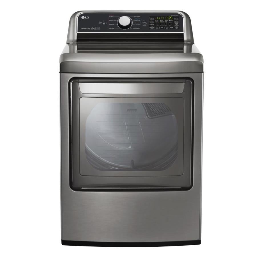 Lg Dryer Manufacture ~ Shop lg cu ft electric dryer graphite steel energy