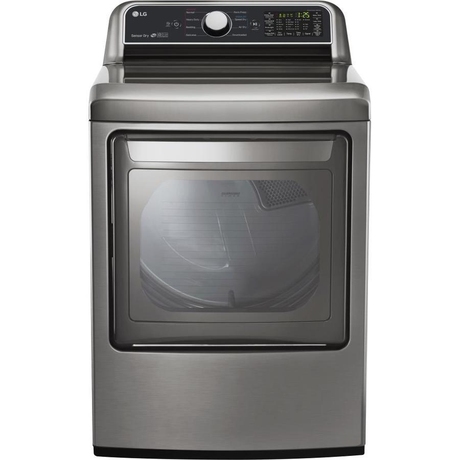 LG 7.3-cu ft Gas Dryer (Graphite Steel) ENERGY STAR