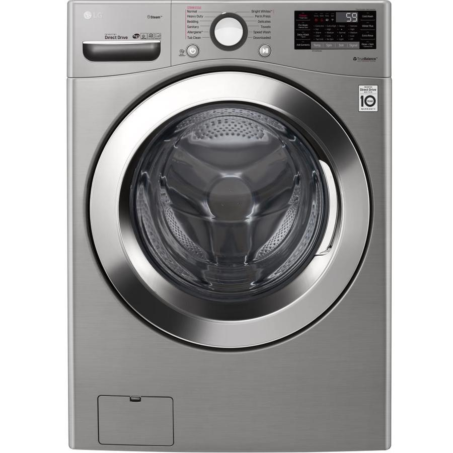 LG 4.5-cu ft High Efficiency Stackable Front-Load Washer (Graphite Steel) ENERGY STAR