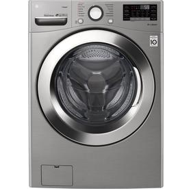 Lg 4 5 Cu Ft High Efficiency Stackable Front Load Washer Graphite Steel