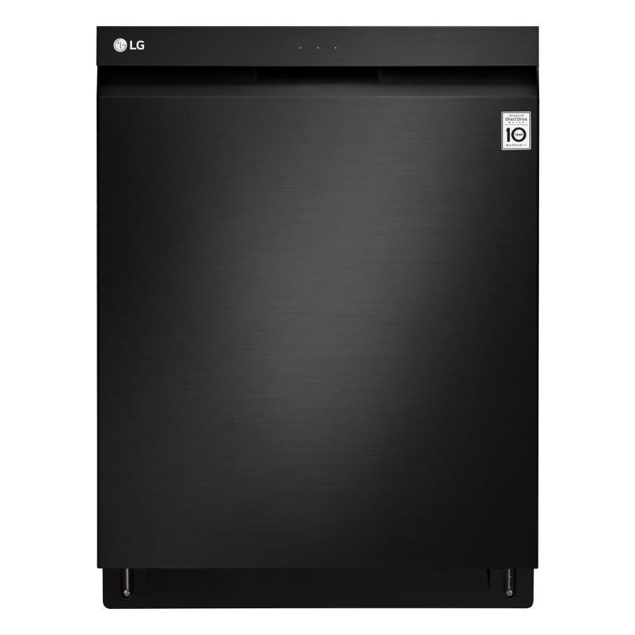 LG QuadWash 44-Decibel Built-In Dishwasher (Fingerprint-Resistant Matte Black Stainless Steel) (Common: 24-in; Actual: 23.75-in) ENERGY STAR