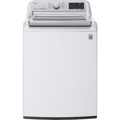 LG SmartThinQ TurboWash 3D 5 5-cu ft Top-Load Washer (White