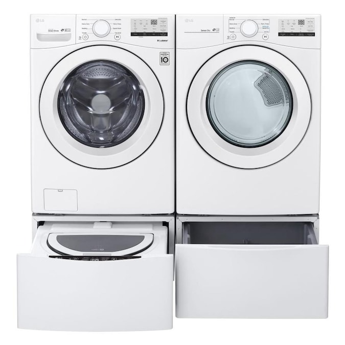 LG WM3400CW 4.5 Cu.Ft White Electric Front Load Washer Appliances ...