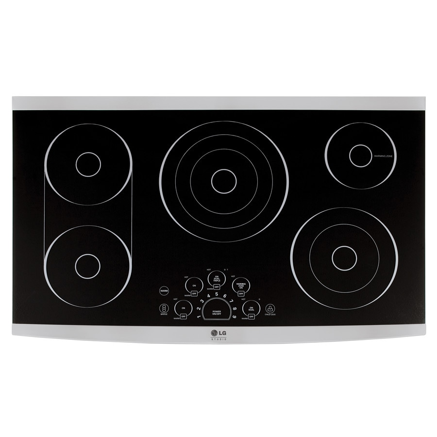 LG Studio 6-Element Smooth Surface Electric Cooktop (Black) (Common: 36-in; Actual 36.6875-in)