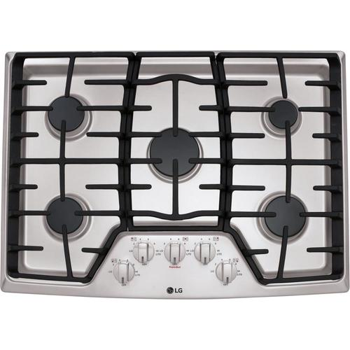 Lg 30 In 5 Burners Stainless Steel Gas Cooktop In The Gas Cooktops Department At Lowes Com