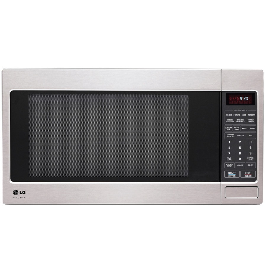 LG Studio 2-cu ft 1,200-Watt Countertop Microwave (Stainless Steel)