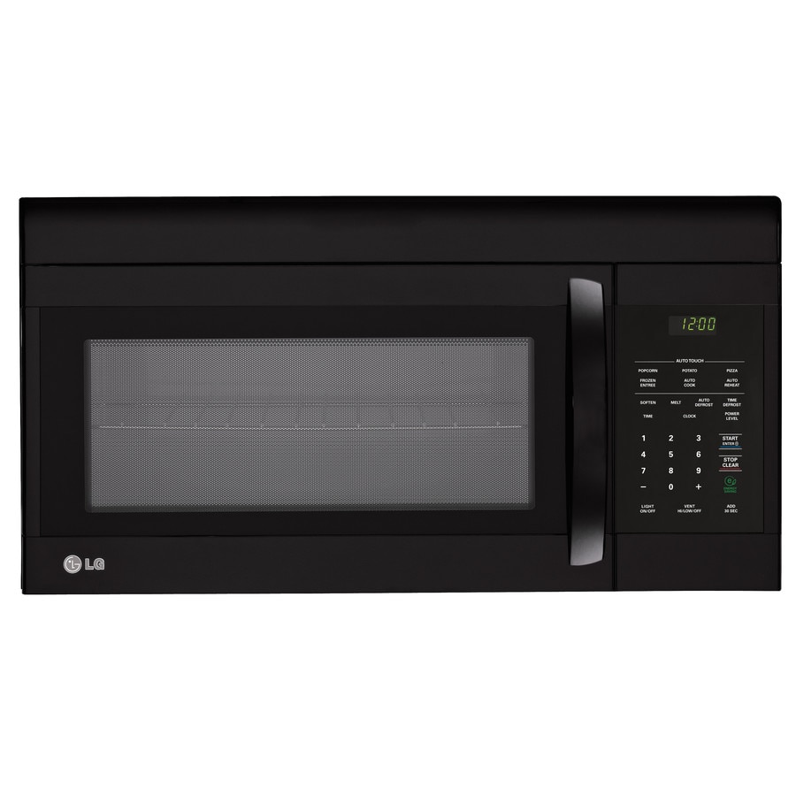 LG 1.6-cu ft Over-The-Range Microwave (Smooth Black) (Common: 30-in; Actual: 29.9375-in)