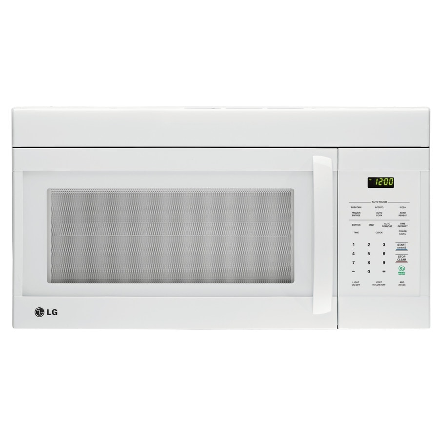 LG 1.6-cu ft Over-the-Range Microwave (Smooth White) (Common: 30-in; Actual: 29.875-in)