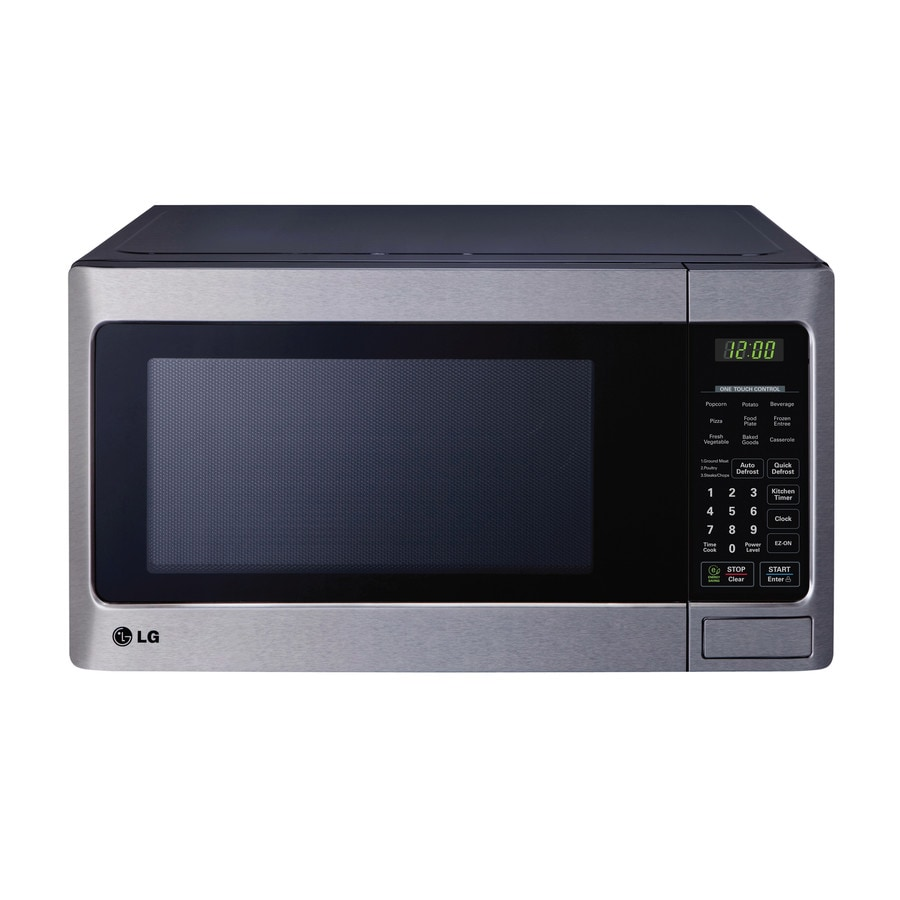 LG 1.1-cu ft 1000-Watt Countertop Microwave (Stainless Steel)