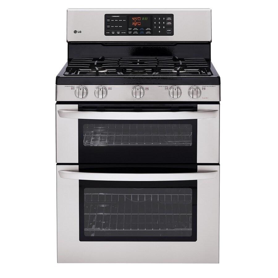 Lg double oven gas range reviews - Lg 30 In 5 Burner Self Cleaning Double Oven Gas Range Stainless