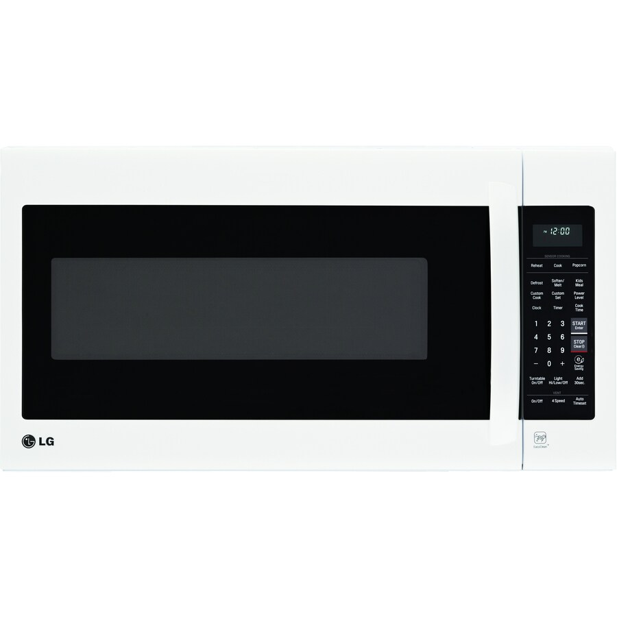 LG 2-cu ft Over-the-Range Microwave with Sensor Cooking Controls (Smooth White) (Common: 30-in; Actual: 29.9375-in)