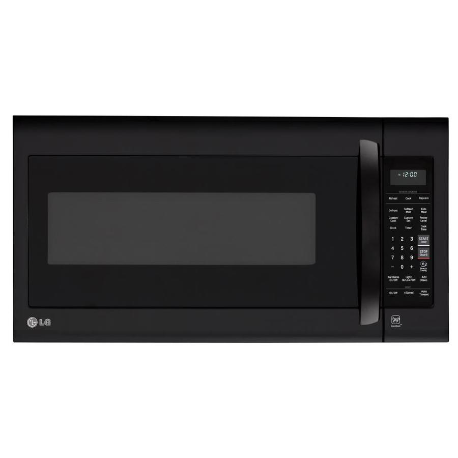 LG 2-cu ft Over-the-Range Microwave with Sensor Cooking Controls (Smooth Black) (Common: 30-in; Actual: 29.9375-in)