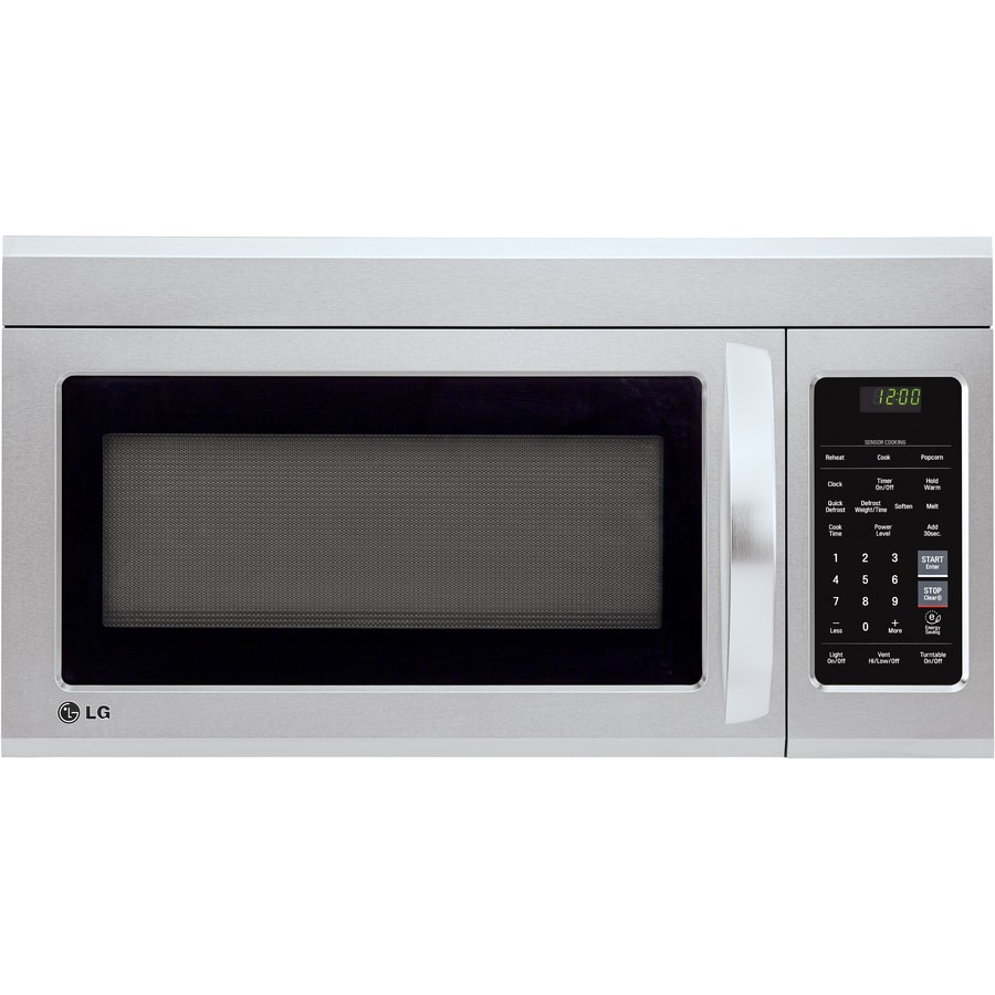 LG 1.8-cu ft Over-the-Range Microwave with Sensor Cooking Controls (Stainless Steel) (Common: 30-in; Actual: 29.9375-in)