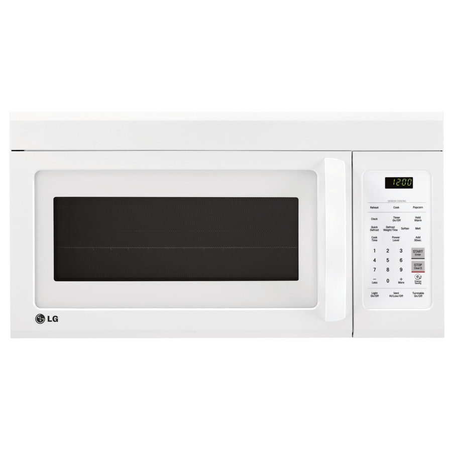 LG 1.8-cu ft Over-the-Range Microwave with Sensor Cooking Controls (Smooth White) (Common: 30-in; Actual: 29.9375-in)