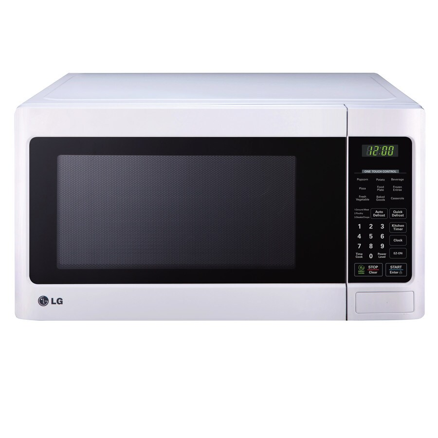 LG 1.1-cu ft 1,000-Watt Countertop Microwave (Smooth White)