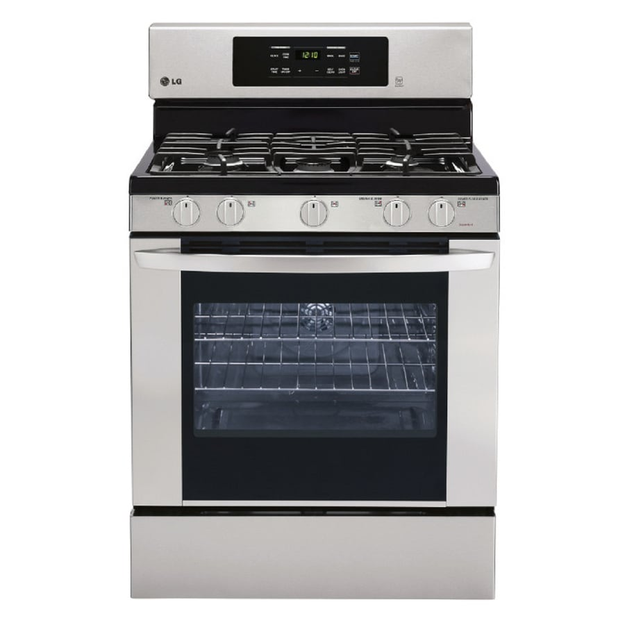 Shop LG 5 Burner Freestanding 54 Cu Ft Self Cleaning