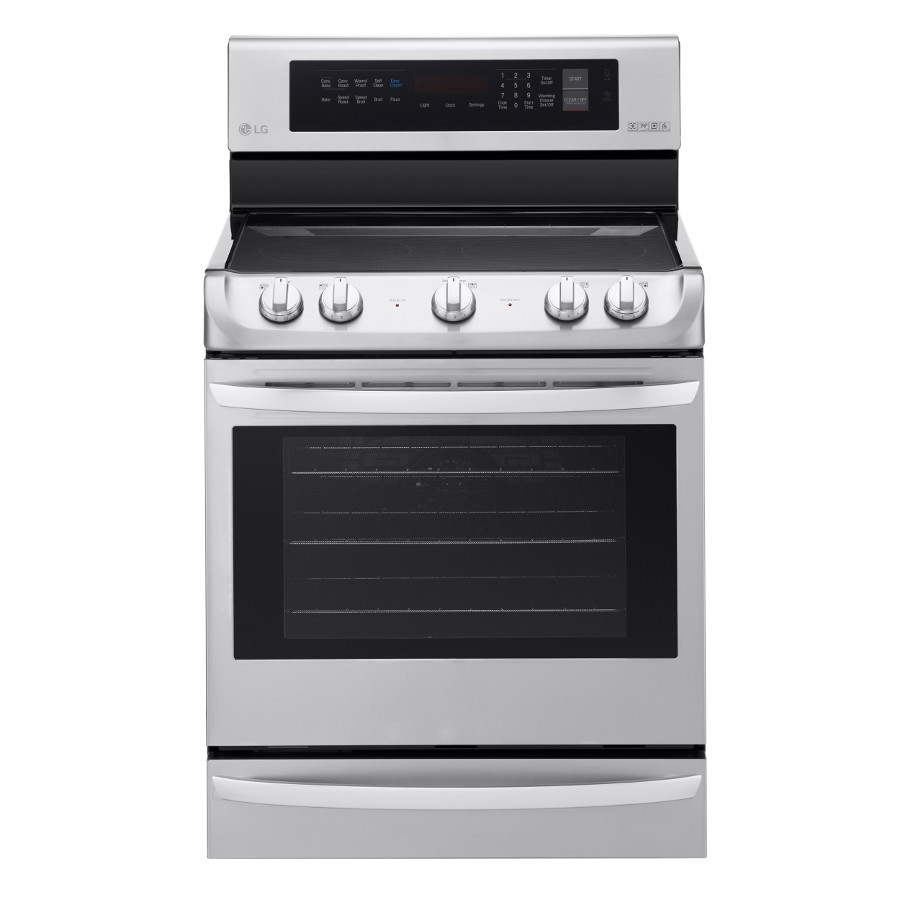 LG EasyClean Smooth Surface Freestanding 5-Element 6.3-cu ft Self-Cleaning Convection Electric Range (Stainless Steel) (Common: 30-in; Actual: 29.9375-in)