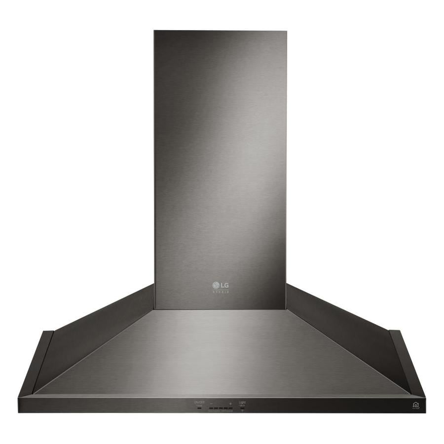 Lg Ducted Wall Mounted Range Hood Black Stainless Steel Common 30