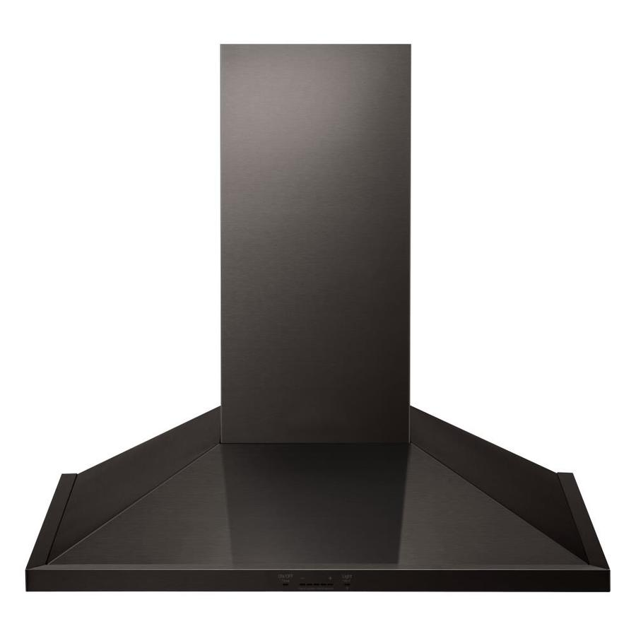Lg Ducted Wall Mounted Range Hood Black Stainless Steel Common 36