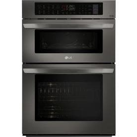 Lg Self Cleaning Convection Microwave Wall Oven Combo Black Stainless Steel Common