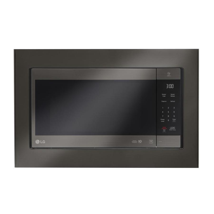 Lg Countertop Microwave Trim Kit Black Stainless Steel