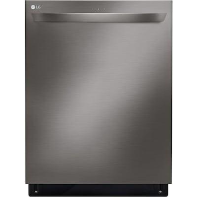 LG SmartThinQ QuadWash 46-Decibel Built-In Dishwasher (Black