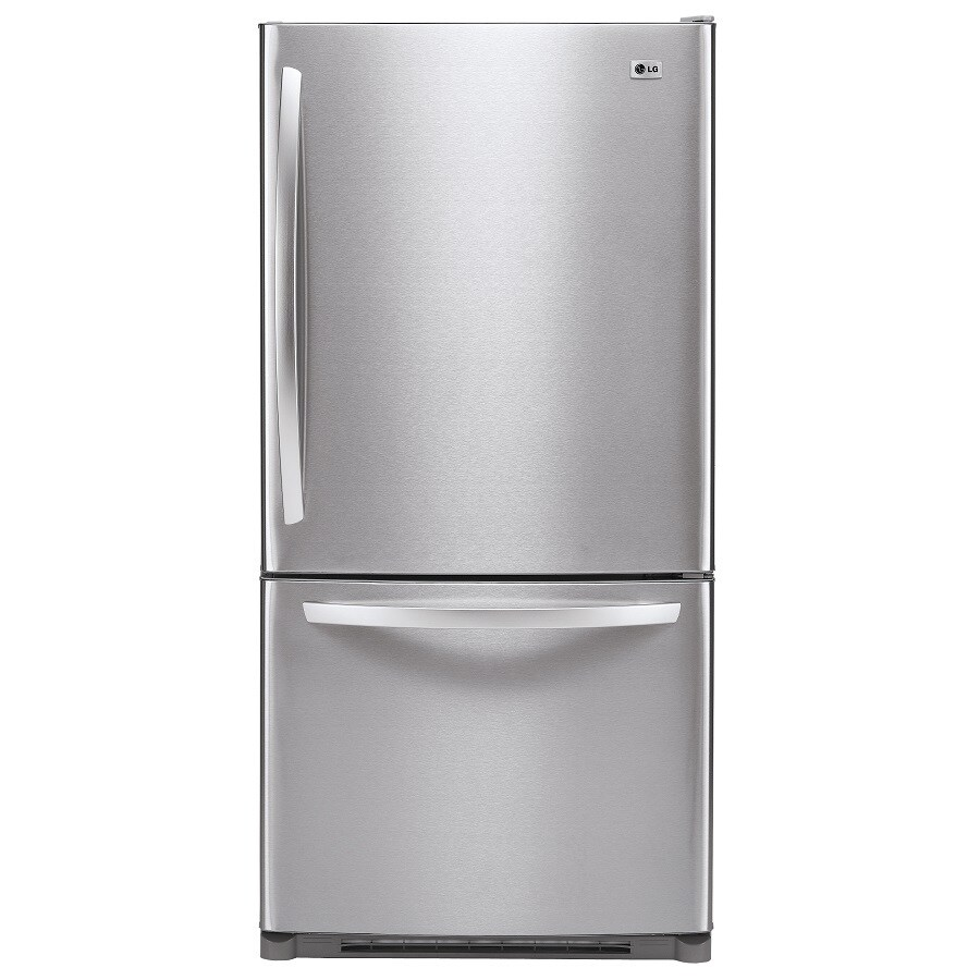 LG 22.4 cu ft Bottom-Freezer Refrigerator (Stainless Steel) ENERGY STAR