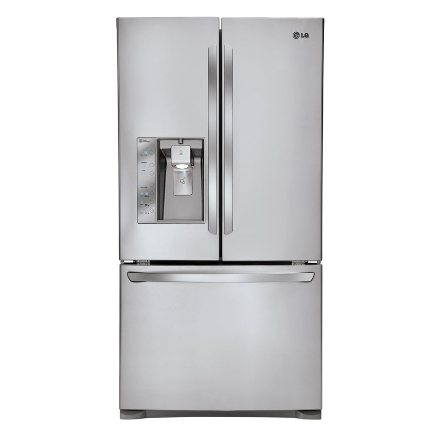 LG 30.7-cu ft French Door Refrigerator with Ice Maker (Stainless Steel)