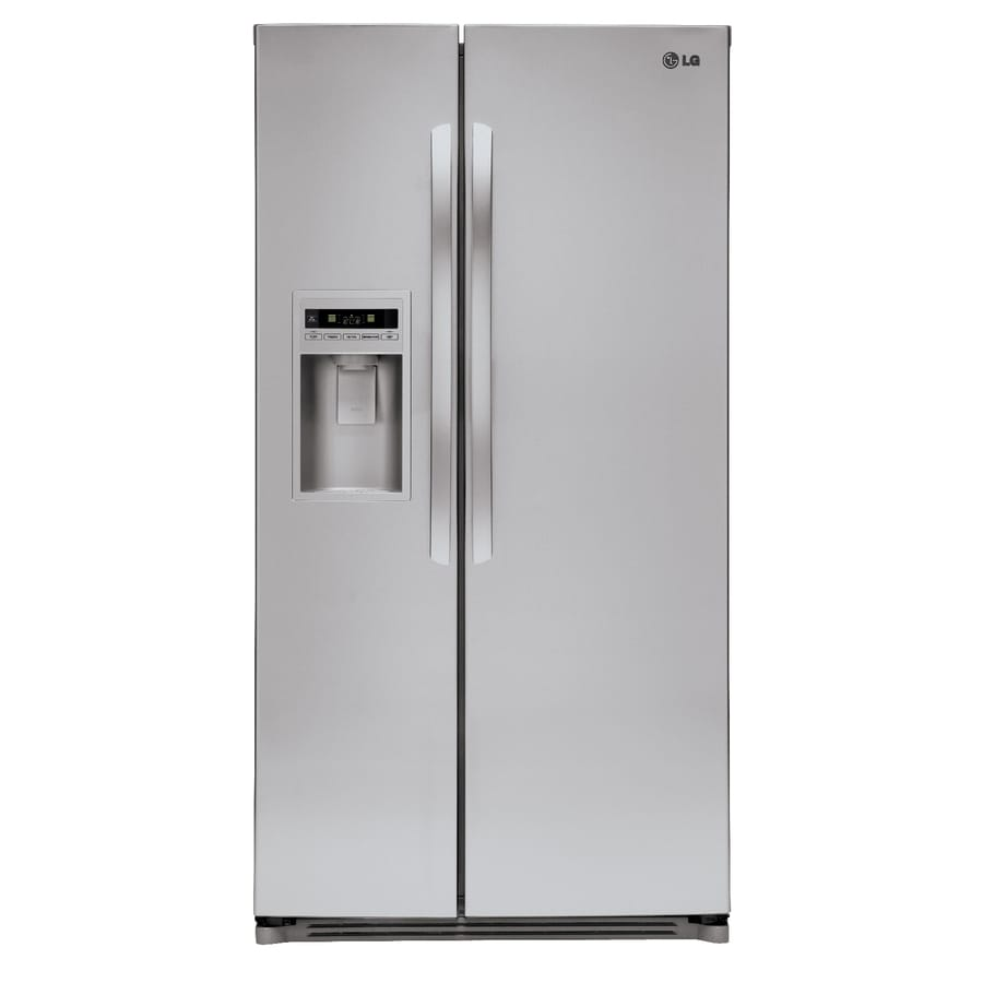 LG 26.5-cu ft Side-by-Side Refrigerator with Single Ice Maker (Stainless Steel)