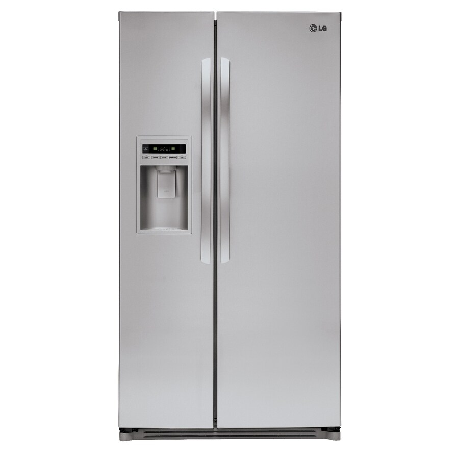 LG 26.5-cu ft Side-by-Side Refrigerator with Ice Maker (Stainless Steel)