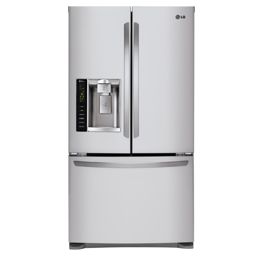 Lg 24 1 Cu Ft French Door Refrigerator With Dual Ice Maker Stainless Steel