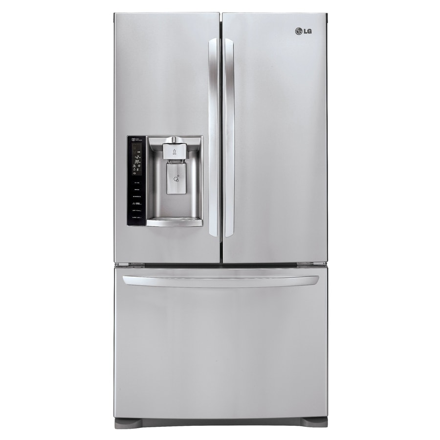 LG 26.8-cu ft French Door Refrigerator with Ice Maker (Stainless Steel) ENERGY STAR