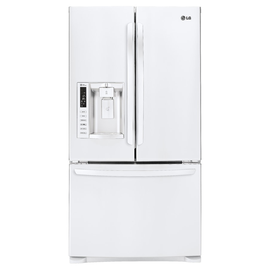 LG 26.8-cu ft French Door Refrigerator with Ice Maker (Smooth white) ENERGY STAR