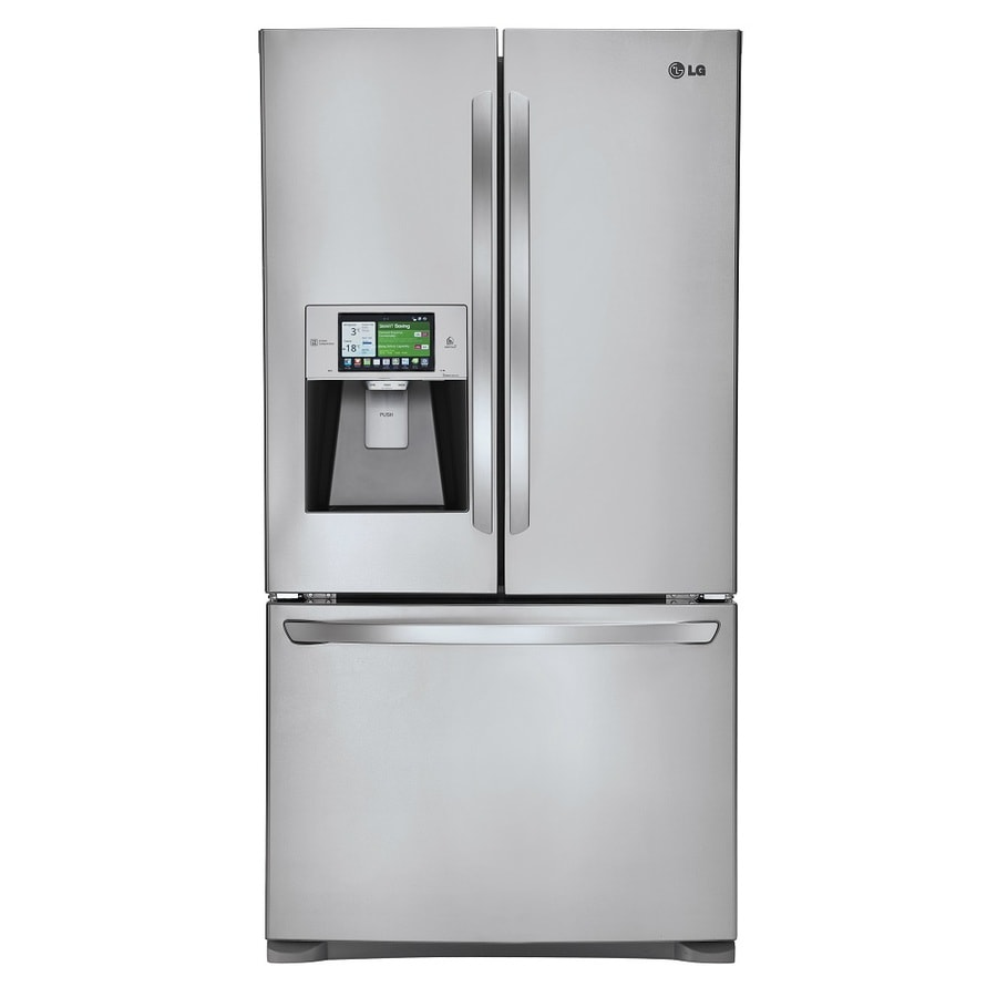 LG 30.7-cu ft French Door Refrigerator with Single Ice Maker (Stainless Steel) ENERGY STAR