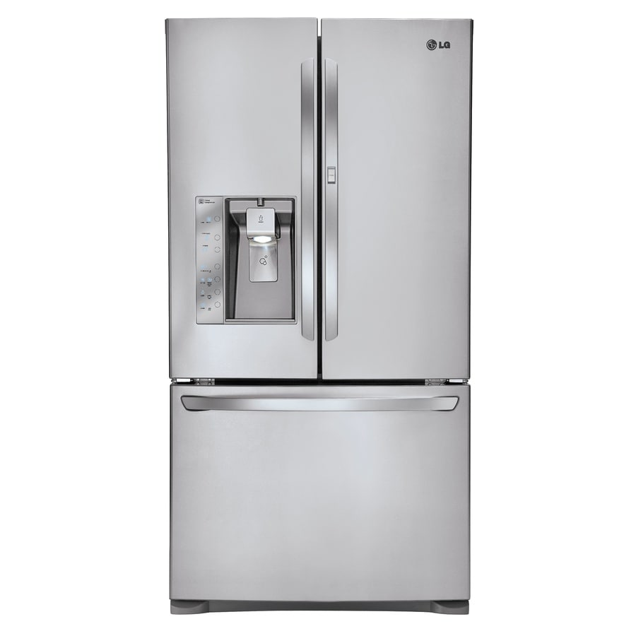 LG 30.5-cu ft French Door Refrigerator with Single Ice Maker Door Within Door (Stainless Steel)