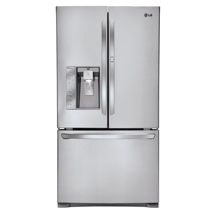 LG 30.5-cu ft 3-Door French Door Refrigerator with Single Ice Maker Ice Maker and Door within Door (Stainless steel)