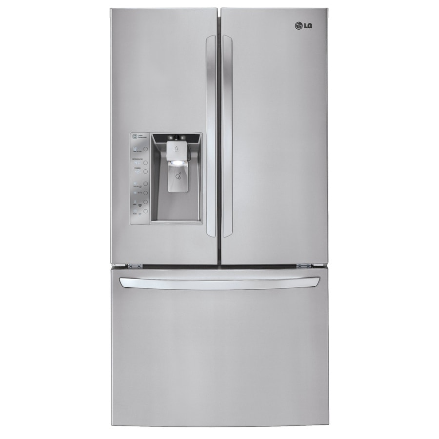 LG 32.5-cu ft French Door Refrigerator with Ice Maker (Stainless Steel)