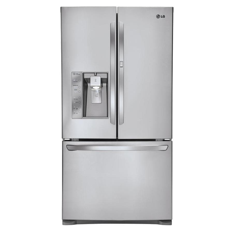 LG 29-cu ft French Door Refrigerator with Dual Ice Maker and Door within Door (Stainless Steel)