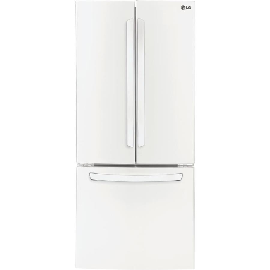 LG 21.8-cu ft French Door Refrigerator with Single Ice Maker (Smooth White) ENERGY STAR