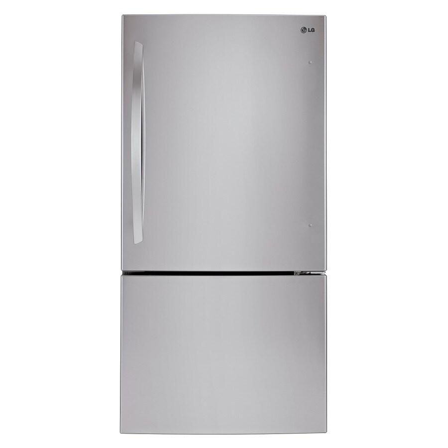 Shop LG 23.8-cu ft Bottom-Freezer Refrigerator with Single ...