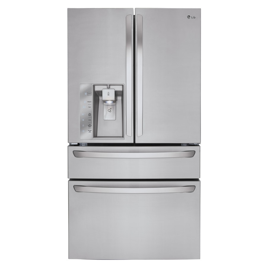 LG 29.9-cu ft 4-Door French Door Refrigerator with Ice Maker (Stainless Steel) ENERGY STAR