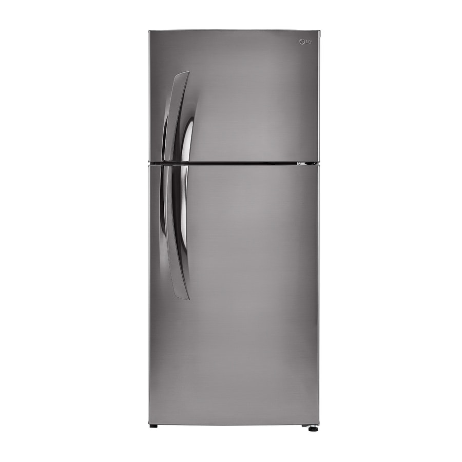 LG 15.7-cu ft Top-Freezer Refrigerator with Single Ice Maker (Stainless VCM)
