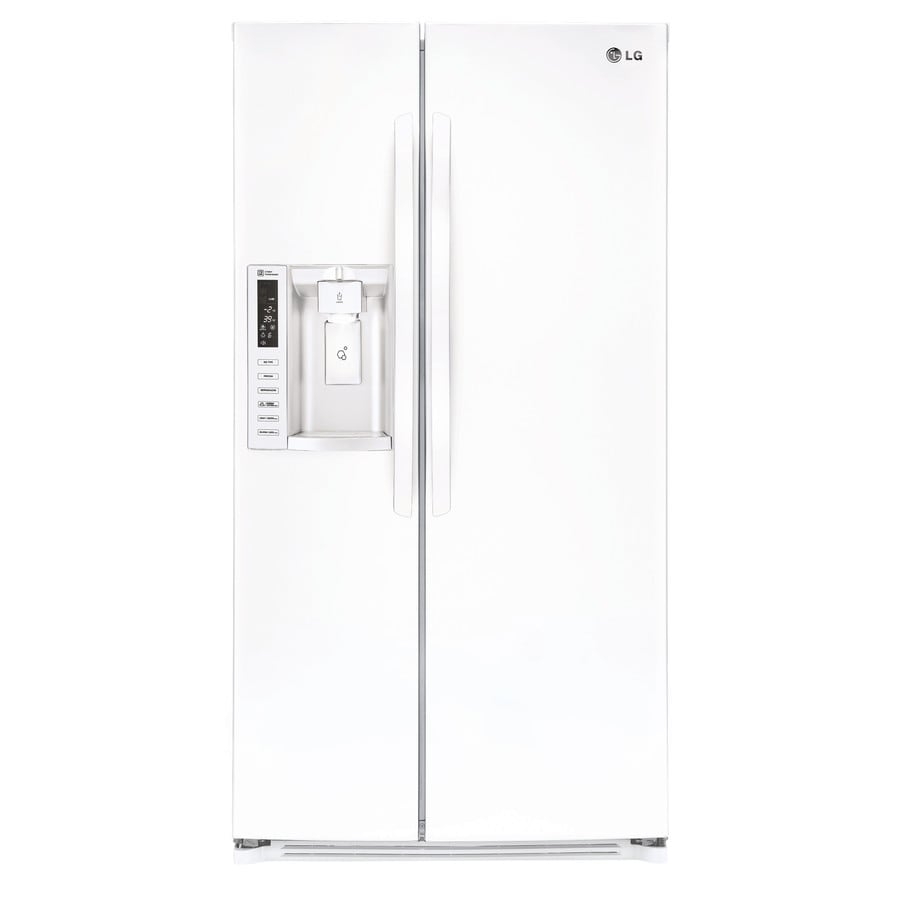 shop lg 26 2 cu ft side by side refrigerator with ice. Black Bedroom Furniture Sets. Home Design Ideas