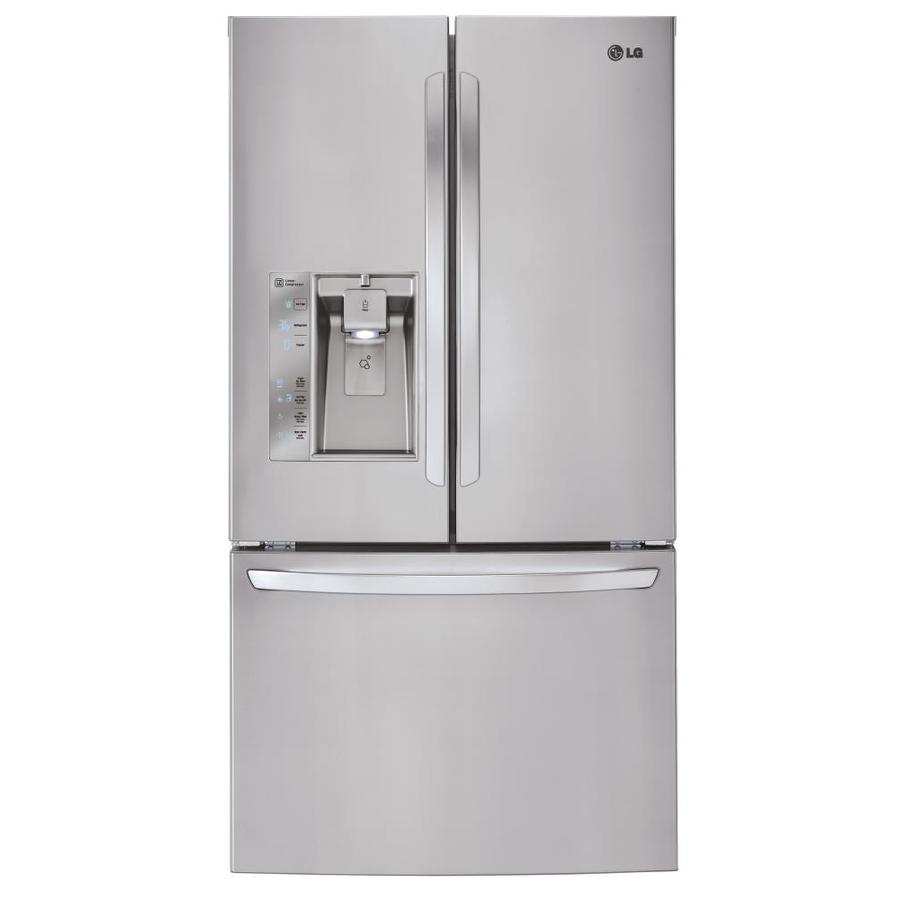 Shop lg 317 cu ft french door refrigerator with ice maker lg 317 cu ft french door refrigerator with ice maker stainless steel energy rubansaba