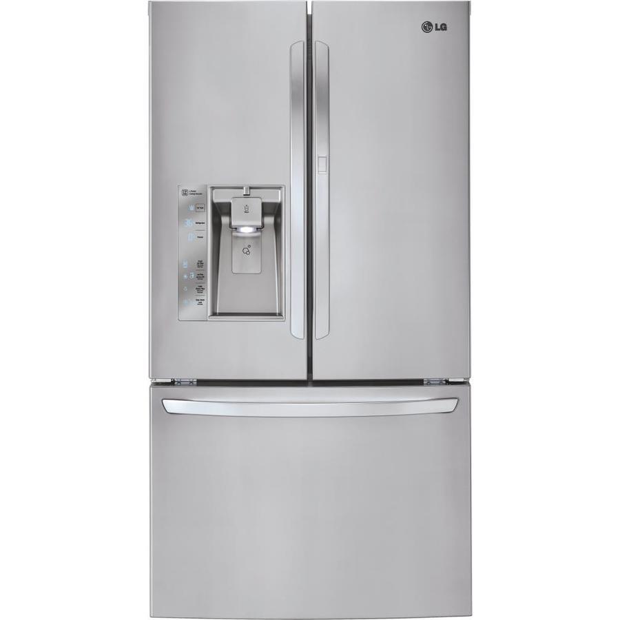 LG 31.5-cu ft 4-Door French Door Refrigerator with Ice Maker and Door within Door (Stainless Steel) ENERGY STAR
