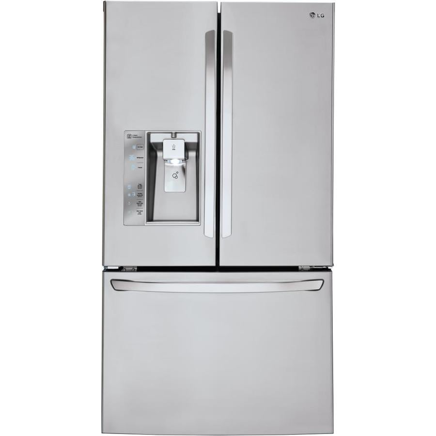 LG 29.8-cu ft French Door Refrigerator with Ice Maker (Stainless steel) ENERGY STAR