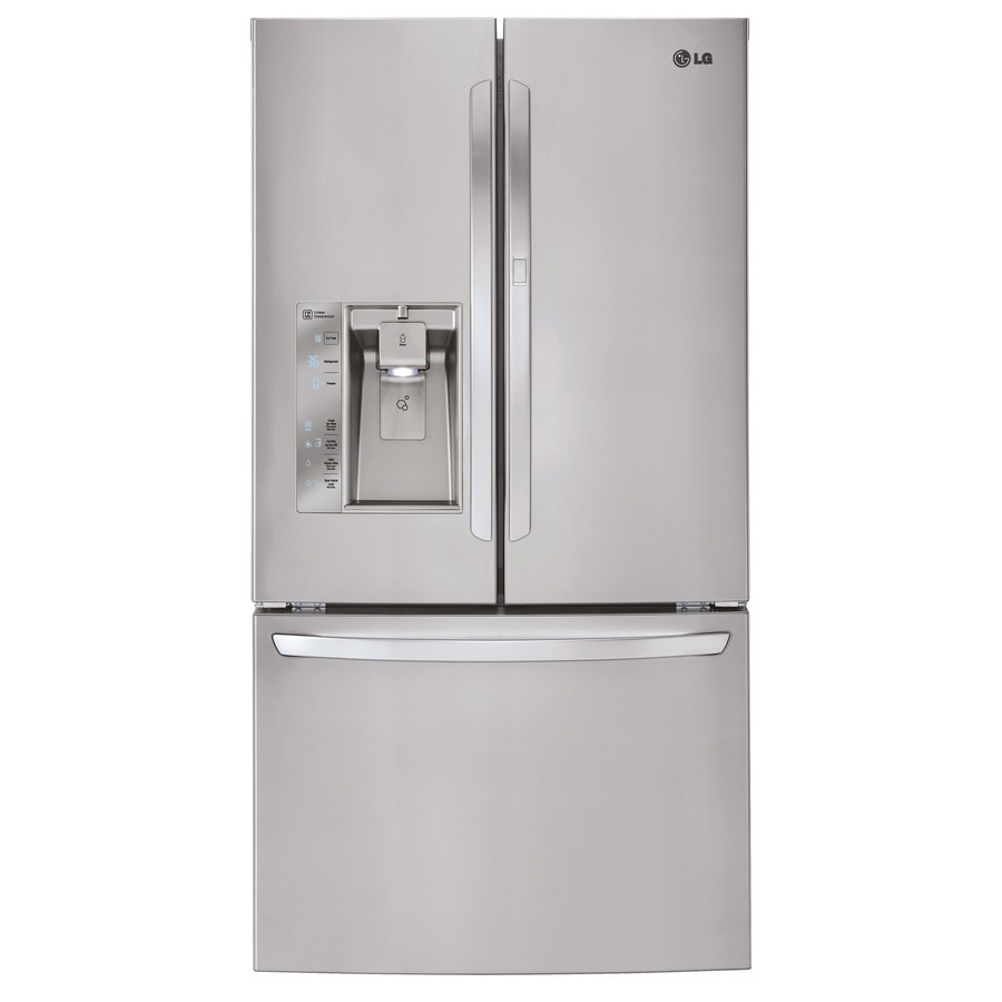 Shop LG 28 6 Cu Ft French Door Refrigerator With Ice Maker And Door Within Do