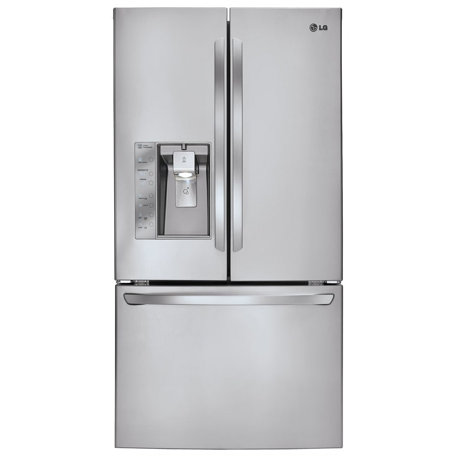 Shop Lg 28 8 Cu Ft French Door Refrigerator With Dual Ice