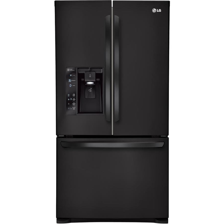 LG 28.8-cu ft French Door Refrigerator with Ice Maker (Smooth Black) ENERGY STAR