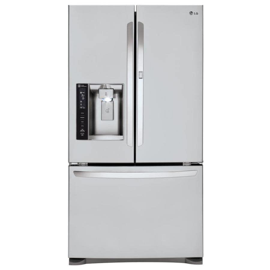 LG 23.9-cu ft 4-Door French Door Refrigerator with Single Ice Maker and Door within Door (Stainless Steel)